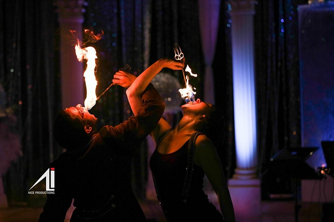 Fire Eating Duo Act at Private Event