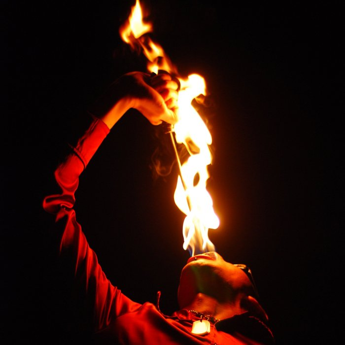 Terrence Drake Fire Eating Close Up