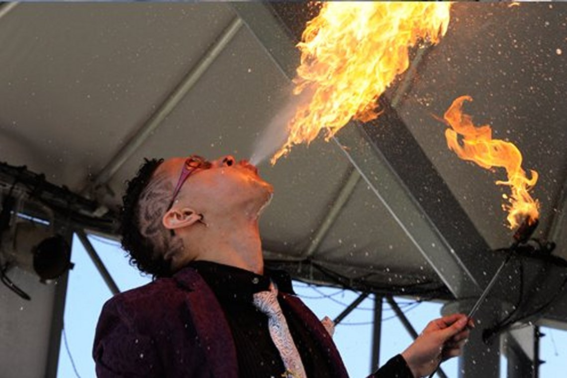Fire Breathing at Toronto International Circus Festival